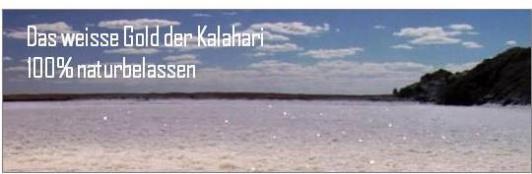 Kalahari Salz - naturbelassen
