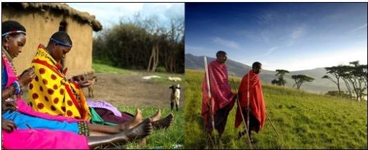 Original Maasai Shukas aus Kenia