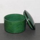 Ziegenlederdose dunkelgrün