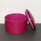 Ziegenlederdose pink