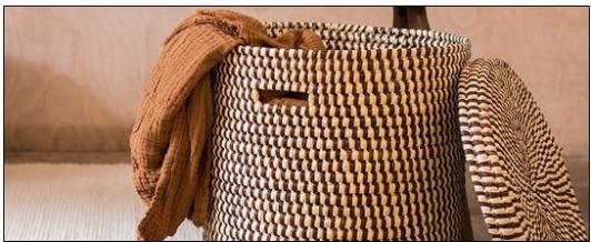 Wäschekörbe aus Palmblättern