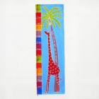 Giraffe orange, blau gefleckt