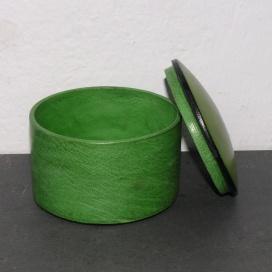 Ziegenlederdose grasgrün