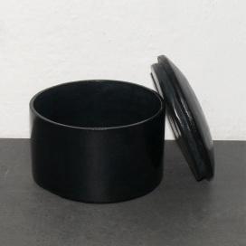 Ziegenlederdose schwarz