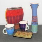 Handbemalte Keramik - spülmaschinenfest